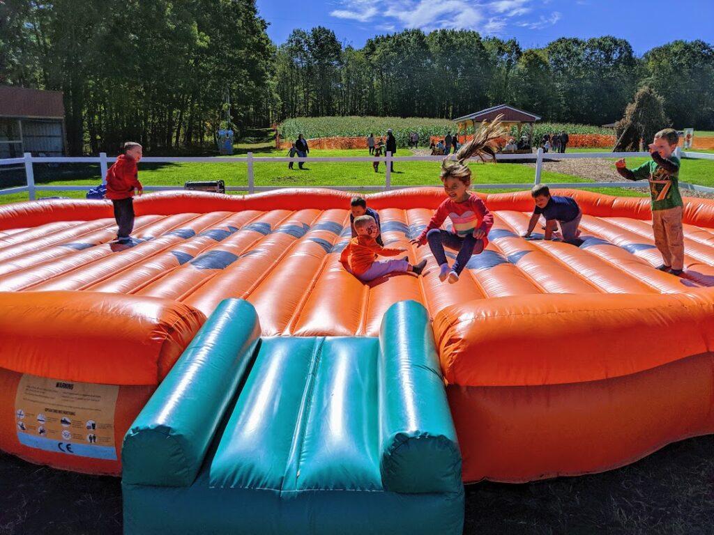 The giant inflatable pumpkin at Pumpkintown